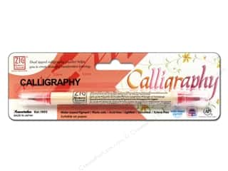 scrapbooking & paper crafts: Zig Dual Tip Calligraphy Pen Pure Red
