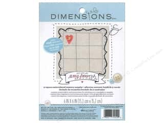 "weekly specials Dimensions Applique Kit: Dimensions Fabric Base Embroidery 6""x 6"" Memory Sampler Amy Powers"