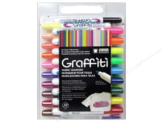 craft & hobbies: Marvy Uchida Graffiti Fabric Markers Set 30 pc.