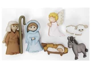 scrapbooking & paper crafts: Jesse James Dress It Up Embellishments Nativity