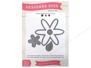 dies: Echo Park Designer Dies Fine And Dandy Flower Set 1