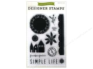 Clearance Plaid Stamps Clear: Echo Park Clear Stamp Set Simple Life