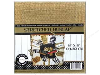 burlap: Canvas Corp Stretched Burlap 8 x 8 in. Blank