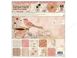 Weekly Specials Scrapbooking Organizers: Die Cuts With A View 12 x 12 in. Cardstock Stack The Garden Tea Party