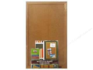 craft & hobbies: The Board Dudes Cork Bulletin Boards 11 x 17 in. Wood Frame