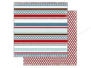 Stock Up Sale Cardstock: Carta Bella 12 x 12 in. Paper All Bundled Winter Stripe (25 sheets)