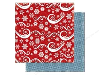 Stock Up Sale Cardstock: Carta Bella 12 x 12 in. Paper All Bundled Snowflake Swirl (25 sheets)
