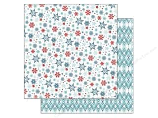 Stock Up Sale Cardstock: Carta Bella 12 x 12 in. Paper All Bundled Small Snowflakes (25 sheets)
