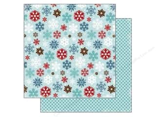 Stock Up Sale Cardstock: Carta Bella 12 x 12 in. Paper All Bundled Large Snowflakes (25 sheets)
