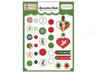 shape brads: Carta Bella Decorative Brads Christmas Time 29 pc.