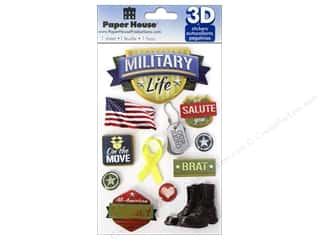 paper blue: Paper House Sticker 3D Military Life