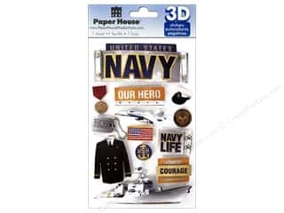 scrapbooking & paper crafts: Paper House Sticker 3D Navy