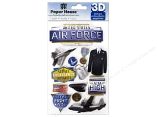 scrapbooking & paper crafts: Paper House Sticker 3D Air Force