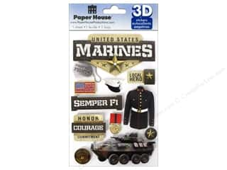 Paper House 3D Stickers - Marines
