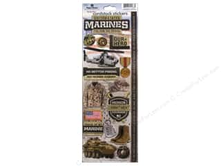 scrapbooking & paper crafts: Paper House Sticker Cardstock United States Marine