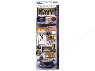 scrapbooking & paper crafts: Paper House Sticker Cardstock United States Navy