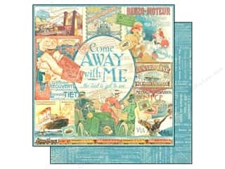 Cardstock Sale: Graphic 45 12 x 12 in. Paper Come Away With Me (25 sheets)