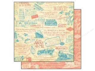 Clearance Pictura Luggage Tag: Graphic 45 12 x 12 in. Paper Come Away With Me Wanderlust (25 sheets)