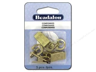 Beadalon Badge Clips with Swivel 3 pc. Gold