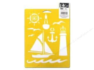 scrapbooking & paper crafts: Delta Stencil Mania 7 x 10 in. Nautical