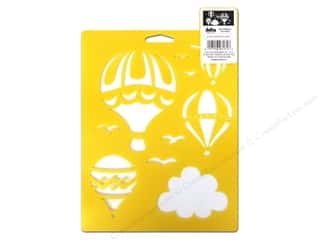 craft & hobbies: Delta Stencil Mania 7 x 10 in. Hot Air Balloons