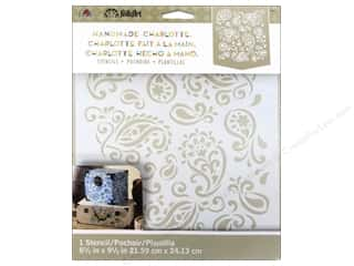 craft & hobbies: Plaid FolkArt Handmade Charlotte Stencils - Paisley Delight