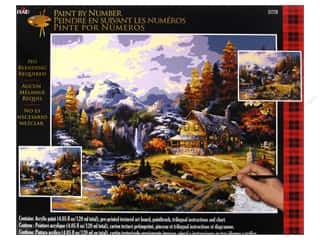 Projects & Kits: Plaid Paint By Number 16 x 20 in. Mountain Hideaway