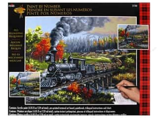 Projects & Kits: Plaid Paint By Number 16 x 20 in. Logging Camp Run