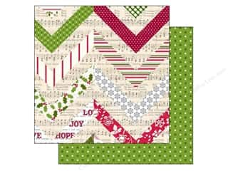 Holiday Sale Printed Cardstock: Echo Park 12 x 12 in. Paper Home For The Holidays Collection Festive Chevron (25 sheets)