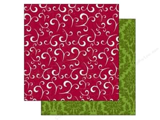Holiday Sale Printed Cardstock: Echo Park 12 x 12 in. Paper Home For The Holidays Collection Holiday Swirl (25 sheets)