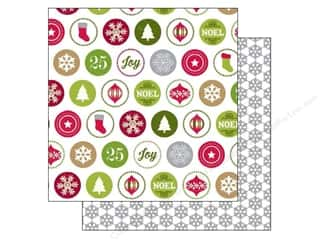 Holiday Sale Printed Cardstock: Echo Park 12 x 12 in. Paper Home For The Holidays Collection Merry Icons (25 sheets)