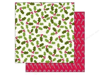 Holiday Sale Printed Cardstock: Echo Park 12 x 12 in. Paper Home For The Holidays Collection Holly Berries (25 sheets)