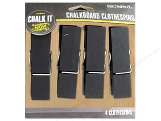 Clothespins: K&Company Chalk It Now Chalkboard Clothespins Large