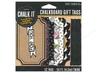 twine: K&Company Chalk It Now Chalkboard Tags Gift