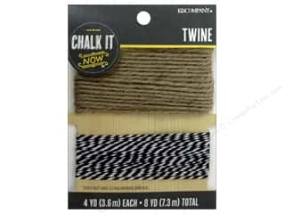 Jute twine: K&Company Chalk It Now Twine Black/Natural