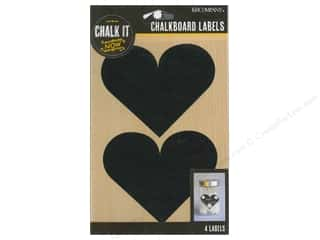 scrapbooking & paper crafts: K&Company Chalk It Now Chalkboard Label Heart