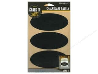 stickers: K&Company Chalk It Now Chalkboard Labels Oval Black