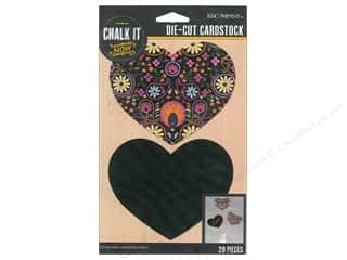 scrapbooking & paper crafts: K&Company Chalk It Now Heart Pattern