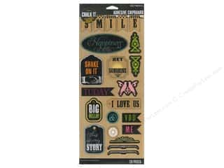 k & company chipboard: K&Company Chalk It Now Sticker Chipboard Words And Shapes