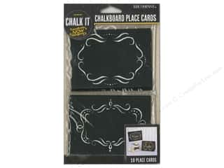 die cuts: K&Company Chalk It Now Chalkboard Place Cards Ornate