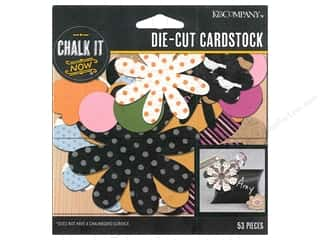 K&Company Chalk It Now Flowers Pattern and Black