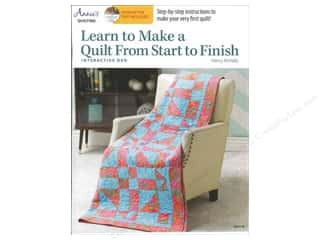 Annie's Learn To Make A Quilt From Start To Finish Book with Interactive DVD by Nancy McNally