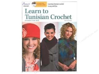 Computer Software / CD / DVD: Annie's Learn To Tunisian Crochet Book with Interactive DVD by Kim Guzman