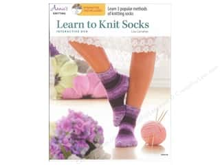 Computer Software / CD / DVD: Annie's Learn to Knit Socks Book with Interactive DVD by Lisa Carnahan