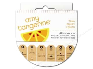 Clearance Pictura Luggage Tag: American Crafts Amy Tangerine Plus One Sticker Roll