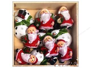 Sierra Pacific Crafts Decor Ornament Snowman/Santa 12 pc