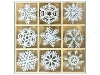 craft & hobbies: Sierra Pacific Crafts Decor Felt Ornament Snowflakes 1.5 in. 36 pc White