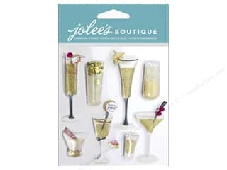 stickers: Jolee's Boutique Stickers Champagne Flutes & Cocktails
