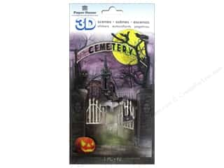 Weekly Specials Scrapbook Albums: Paper House Sticker 3D Cemetery Scene