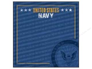 scrapbooking & paper crafts: Paper House 12 x 12 in. Paper Navy Emblem (25 sheets)